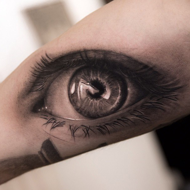 Amazing Graphic Eye realistic tattoo on Hand