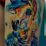 Amazing Horse Expression tattoo