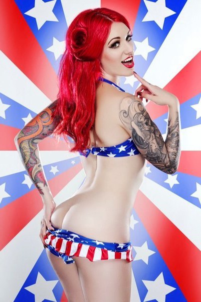 American Beauty Pin Up Girl