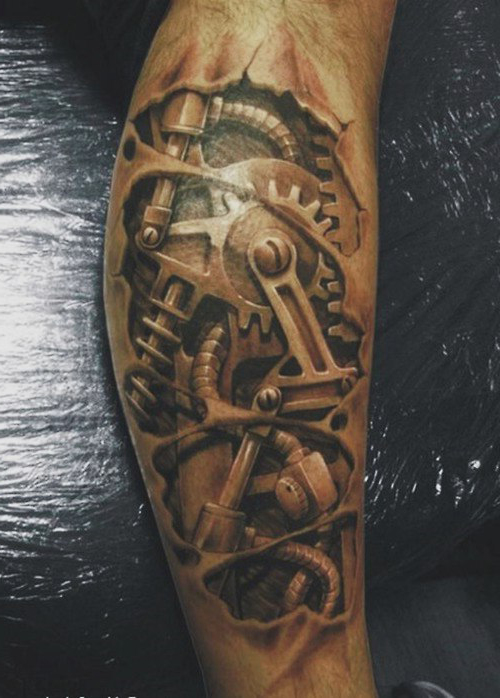 Anckle Complicated Mechanism biomechanic tattoo