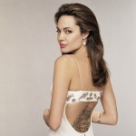 Angelina Jolie tattoo on back