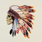 Aquarelle Indian Skull