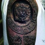 Aztek Zodiac 3D tattoo