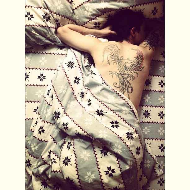 Back Bird tattoo