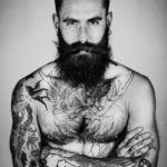 Bearded different free tattoo designs for men