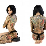 Beautiful Full Body back Dragons japanese tattoo