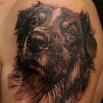 Beloved Dog pet realistic tattoo