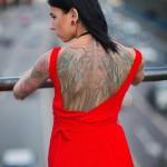 Biomechanic Back Wings tattoo