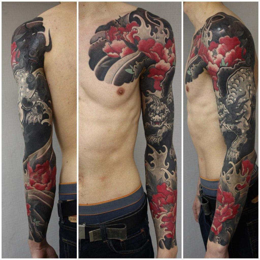 Black Demon japanese sleeve tattoo   Best Tattoo Ideas Gallery