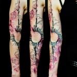 Black & Pink Schematics tattoo