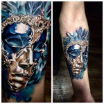 Blue Sadness Queen tattoo