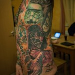 Body Side Star Wars tattoo Mash Up