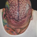 Brainiac 3D tattoo
