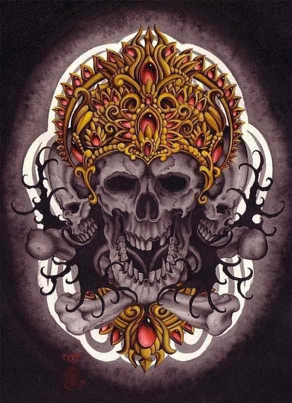 Buddah Demon Scull
