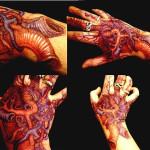Bunch of Veins organic tattoo on Hand
