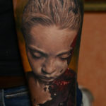 Burned Child realistic tattoo