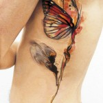 Butterflower tattoo