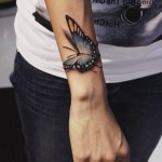 Butterfly on my Hand 3D tattoo