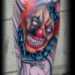 Choking Evil Clown tattoo