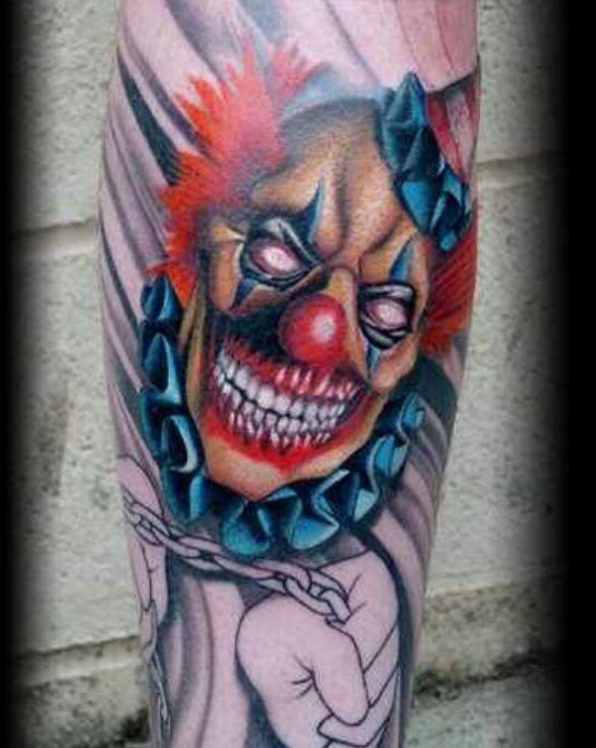 choking evil clown tattoo best tattoo ideas gallery. Black Bedroom Furniture Sets. Home Design Ideas