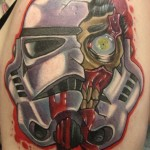 Clone Smashed Head Star Wars tattoo