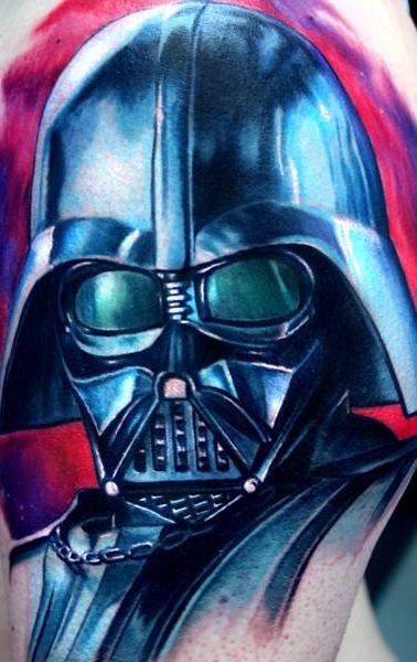 Close-Up Darth Vader Star Wars tattoo