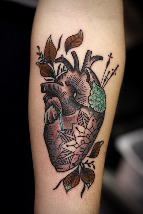 Cool Heart traditional tattoo