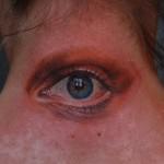 Creepy Neck Eye realistic tattoo