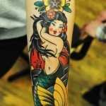 Curvy Mermaid tattoo