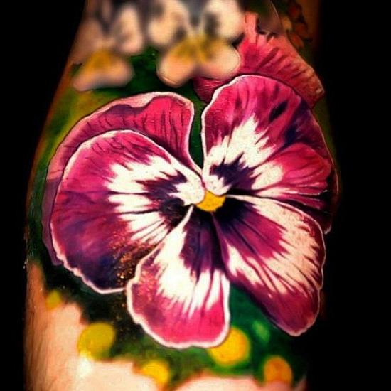 Cute Violet realistic tattoo