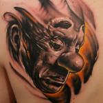 Dark Sad Evil Clown tattoo
