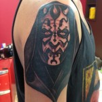 Darth Maul Face Star Wars tattoo