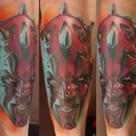 Darth Maul in Rage Star Wars tattoo