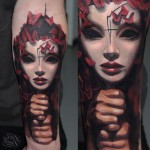 Deadly Beauty Mask tattoo