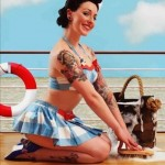 Sailor Pin Up Girl tattoo design