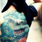 Deep Sea Shark tattoo