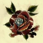 Dimond rose drawing tattoo
