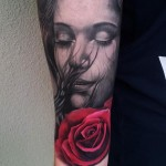 Dreamming Of You realistic tattoo Rose