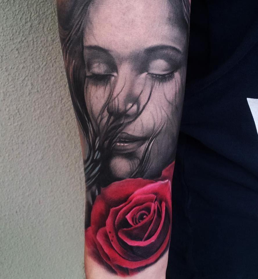 Dreaming Of You realistic tattoo Rose