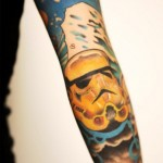 Elbow Empire Trooper Star Wars tattoo