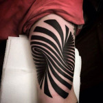 Elbow Optical Illusion 3D tattoo