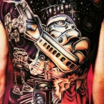 Empire Illustrations Full Back Star Wars Tattoo
