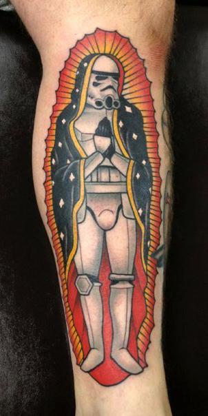 Empire Saint Trooper Star Wars tattoo