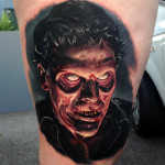 Empty Eyes Zombie realistic tattoo