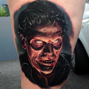 Empty Eyes Zombie realistic tattoo