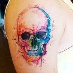 Evil Smile Skull tattoo