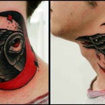 Eye Raven in the Moon tattoo