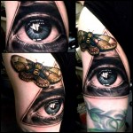 Eye of Providence Butterfly realistic tattoo