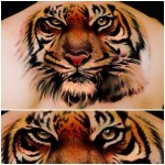 Eyes of Tiger realistic tattoo