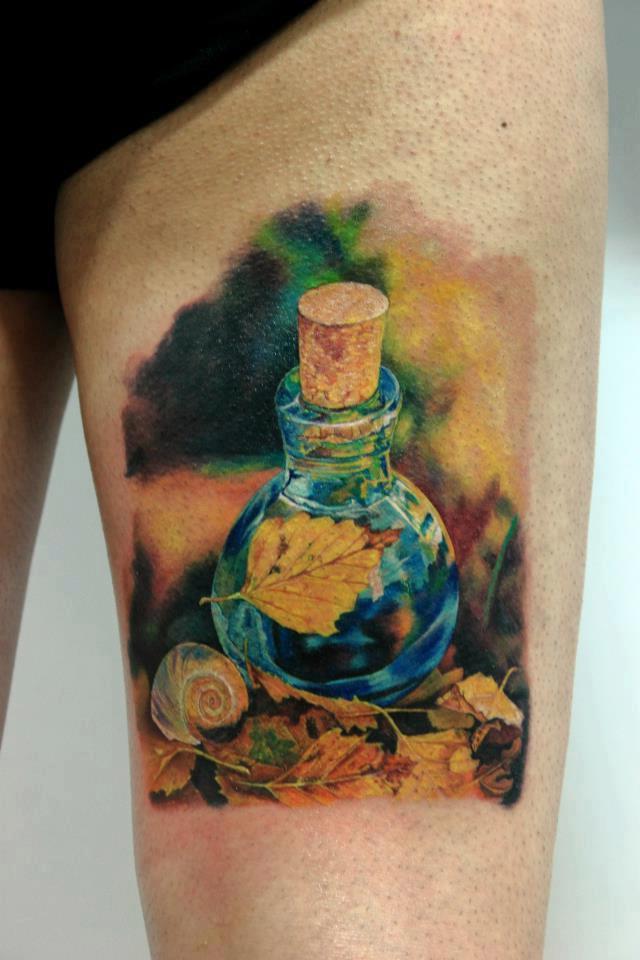 Fall Flusk realistic tattoo